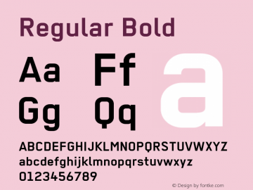 Regular Bold 001.012 Font Sample
