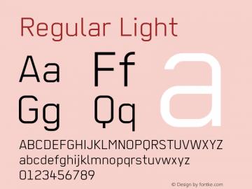 Regular Light 001.012 Font Sample