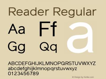 Reader Regular Version 1.002图片样张