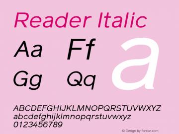Reader Italic Version 1.002图片样张