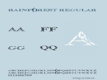 Rainforest Regular Version 1.001 Font Sample