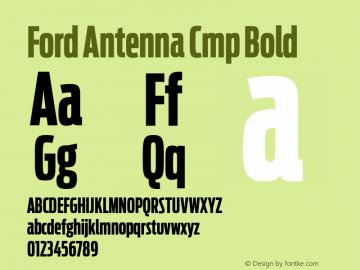 Ford Antenna Cmp Font,FordAntenna-BoldCmp Font,Ford Antenna