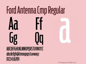 Ford Antenna Cmp Regular Version 001.001 Font Sample