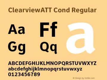 ClearviewATT Cond Regular Version 001.000 Font Sample