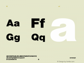 Helvetica-Heavy Regular Converted from C:\EMSTT\ST000006.TF1 by ALLTYPE Font Sample