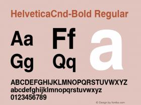 HelveticaCnd-Bold Regular Converted from C:\EMSTT\ST000000.TF1 by ALLTYPE Font Sample