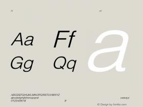 HelveticaObl-Light Regular Converted from C:\EMSTT\ST000086.TF1 by ALLTYPE Font Sample