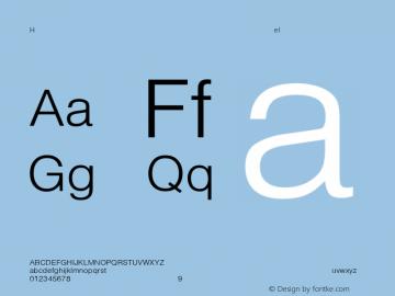 Helvetica-Light Regular Converted from C:\EMSTT\ST000007.TF1 by ALLTYPE Font Sample