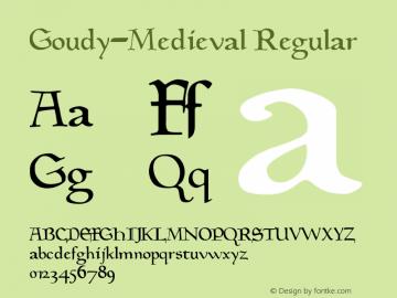 Goudy Medieval Font Goudy Medieval Converted From F Y Goudymed Tf1 By Alltype Font Ttf Font Uncategorized Font Fontke Com