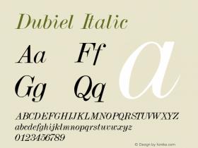 Dubiel Italic Altsys Metamorphosis:4/4/92图片样张