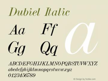 Dubiel Italic Altsys Metamorphosis:4/4/92 Font Sample
