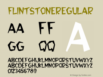 FlintStone Regular Altsys Fontographer 3.5  3/29/92 Font Sample