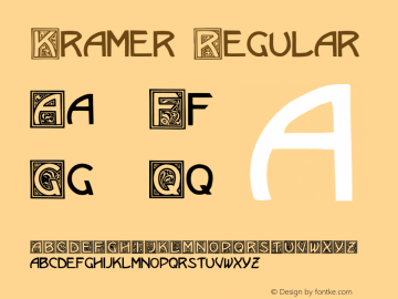 Kramer Regular Converted from C:\EMSTT\KRAMER.TF1 by ALLTYPE Font Sample