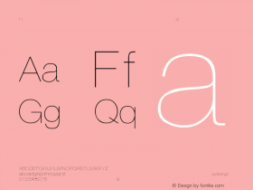 Helvetica-Thin Regular Converted from C:\EMSTT\ST000008.TF1 by ALLTYPE Font Sample