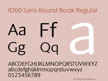 ID00 Sans Round Book Regular Version 1.001图片样张