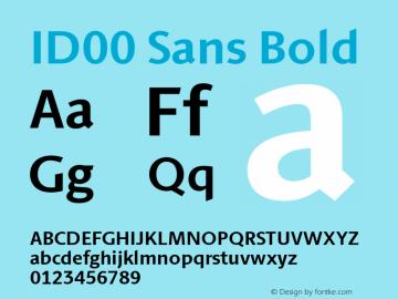 ID00 Sans Bold Version 1.001图片样张