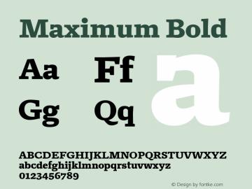 Maximum Bold Version 1.001 Font Sample