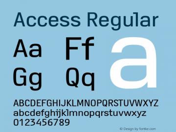 Access Regular Version 1.001 Font Sample