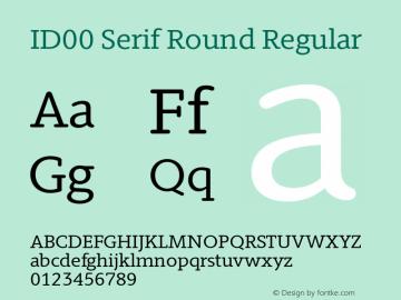 ID00 Serif Round Regular Version 1.001图片样张