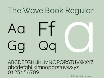 The Wave Book Regular Version 1.001 Font Sample