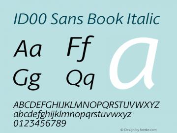ID00 Sans Book Italic Version 1.001图片样张