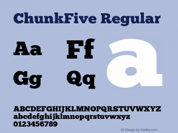 ChunkFive Regular Version 1.0 Font Sample
