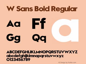 W Sans Bold Regular 1.000 Font Sample
