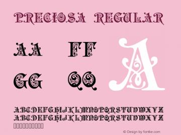 Preciosa Regular Version 1.00 - 01-10-98图片样张