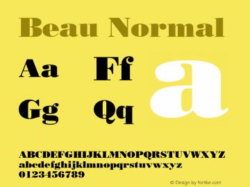 Beau Normal Altsys Fontographer 4.1 10/31/95 Font Sample