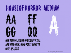 HouseofHorror Medium 001.000 Font Sample