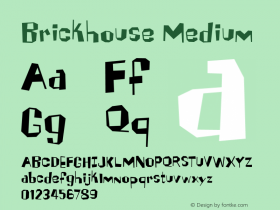 Brickhouse Medium 001.000 Font Sample