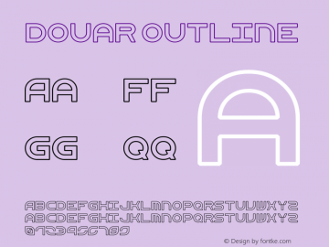 Douar Outline Version 001.000  Font Sample