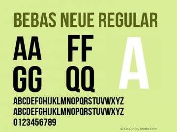 Bebas Neue Regular Version 1.002 Font Sample