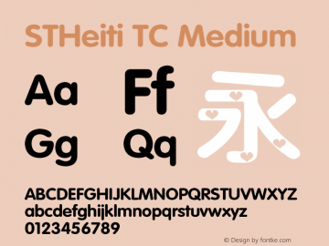 STHeiti TC Medium 6.1d10e1 Font Sample
