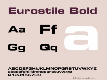 Eurostile Bold Version 001.003图片样张