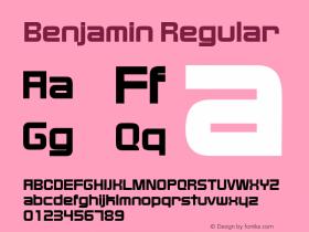 Benjamin Regular Altsys Fontographer 4.0.3 2/4/94 Font Sample