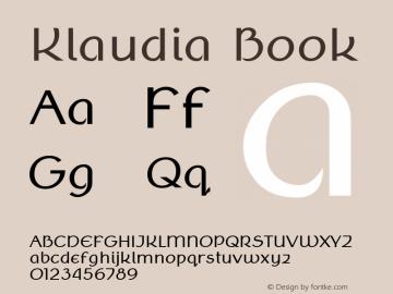 Klaudia Book Version 2.000 Font Sample