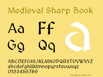 Medieval Sharp Book Version 2.001 Font Sample