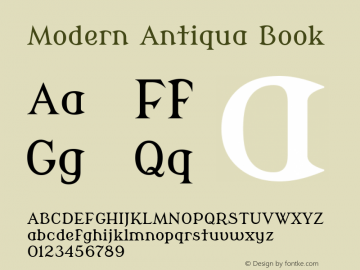 Modern Antiqua Book Version 2.000 Font Sample