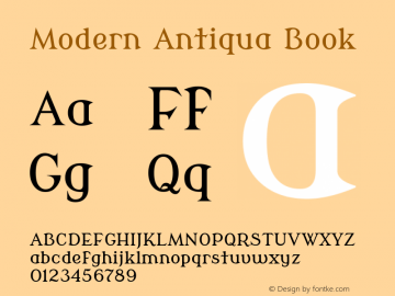 Modern Antiqua Book Version 2.000 Font Sample