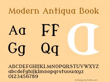 Modern Antiqua Book Version 2.000图片样张