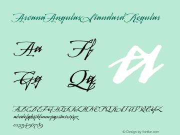 ArcanaAngularStandard Regular 001.000 Font Sample