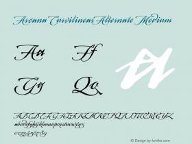 Arcana CurvilinearAlternate Medium 001.000 Font Sample