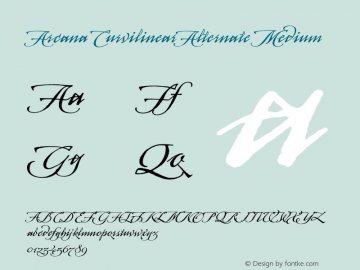 Arcana CurvilinearAlternate Medium 001.000 Font Sample