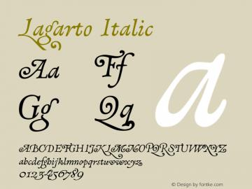 Lagarto Italic XPDF Font Sample