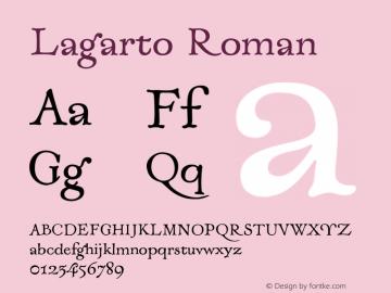Lagarto Roman XPDF Font Sample