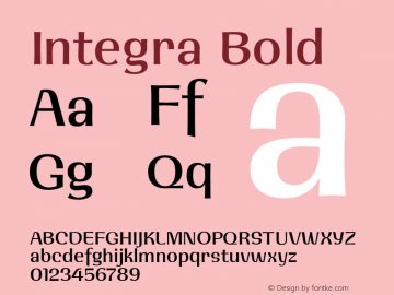 Integra Bold 001.001 Font Sample