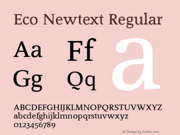 Eco Newtext Font,EcoNewtext-Roman Font,Eco Newtext Roman
