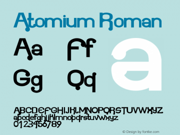 Atomium Roman Version 001.001 Font Sample