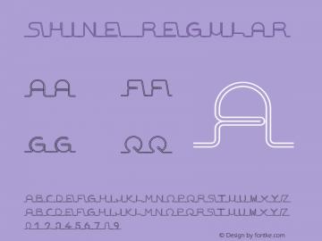 Shine Regular Version 1.000 Font Sample